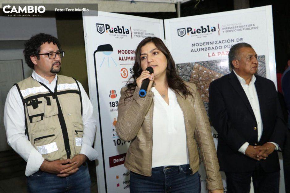 Claudia entrega 862 luminarias en la Colonia La Paz con una inversión de 7 millones de pesos