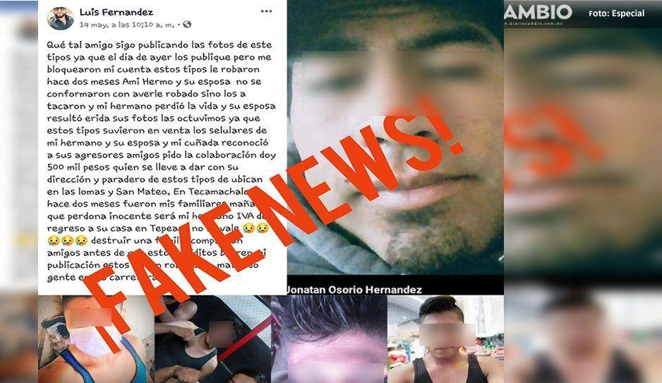 Usan su foto en fb: lo acusan de ser delincuente y amenazan con matarlo en Huitziltepec