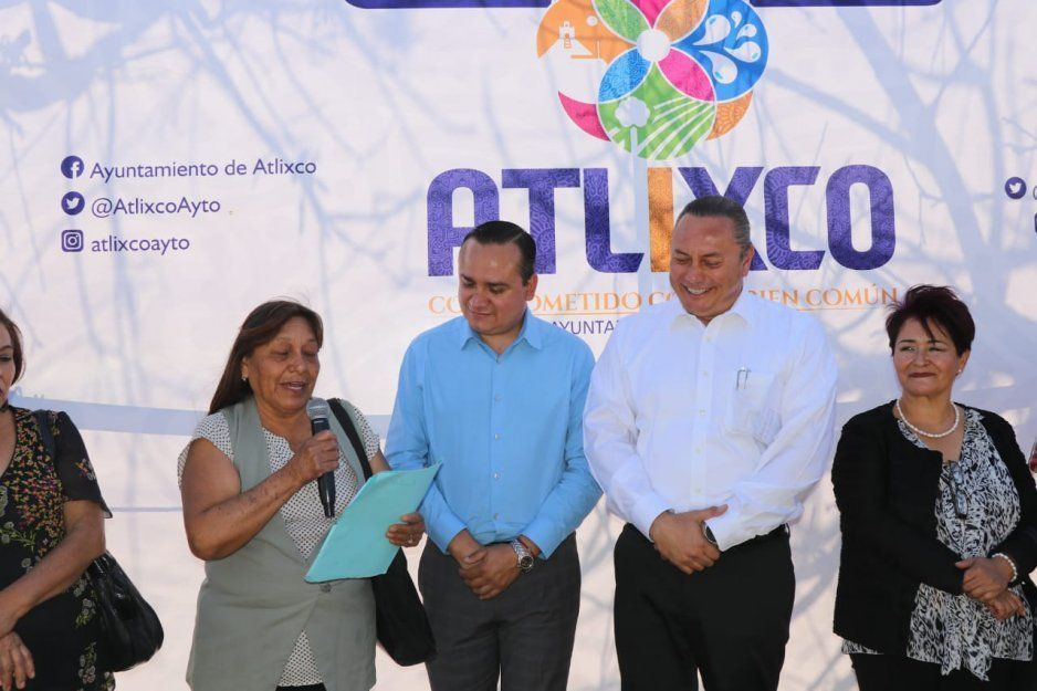 Inaugura Guillermo Velázquez drenaje sanitario en San Diego Acapulco, en Atlixco