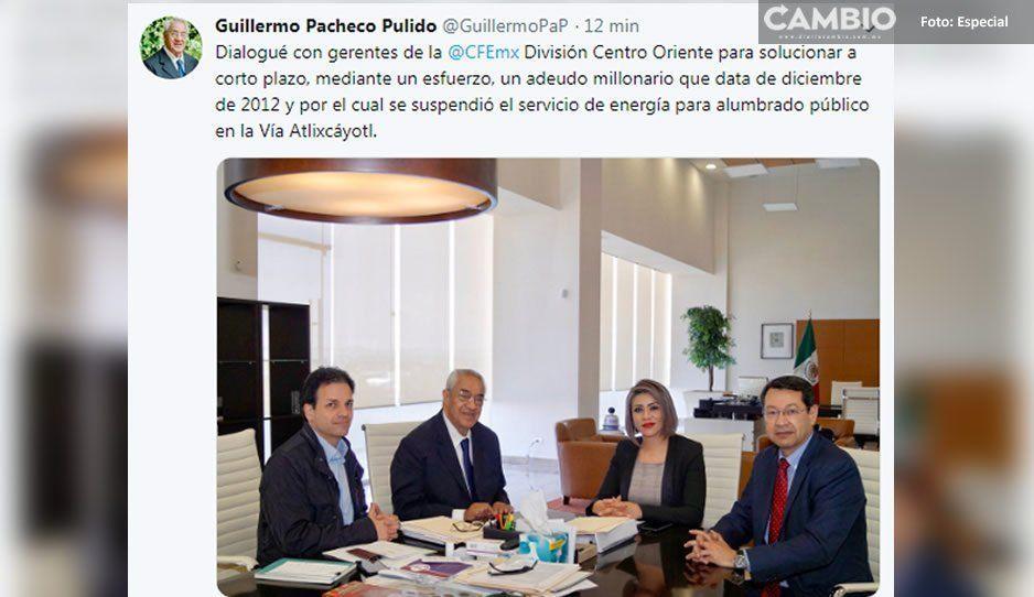 Negocia Pacheco con CFE para pagar la luz y confirma que el adeudo por diablitos viene de 2012