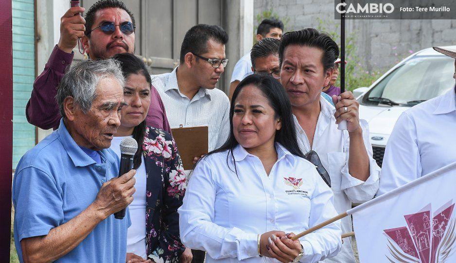 Alcaldesa Lupita Daniel arranca seis  obras en beneficio de Cuautlancingo