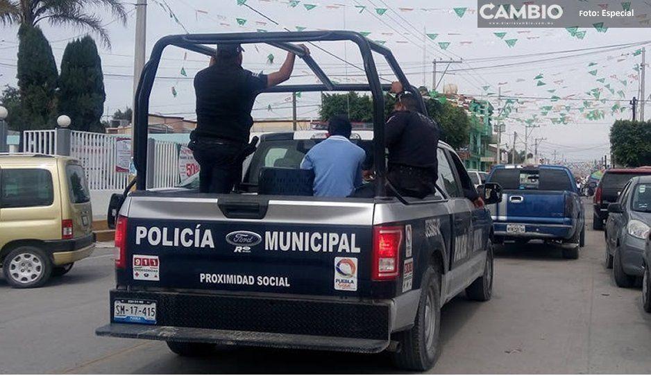 Ayuntamiento de Tochtepec desmiente hallazgo de droga a sucomandante detenidoen Quecholac