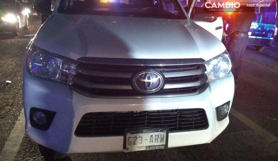 Tras persecución policías de Texmelucan recuperan camioneta robada en Huejotzingo
