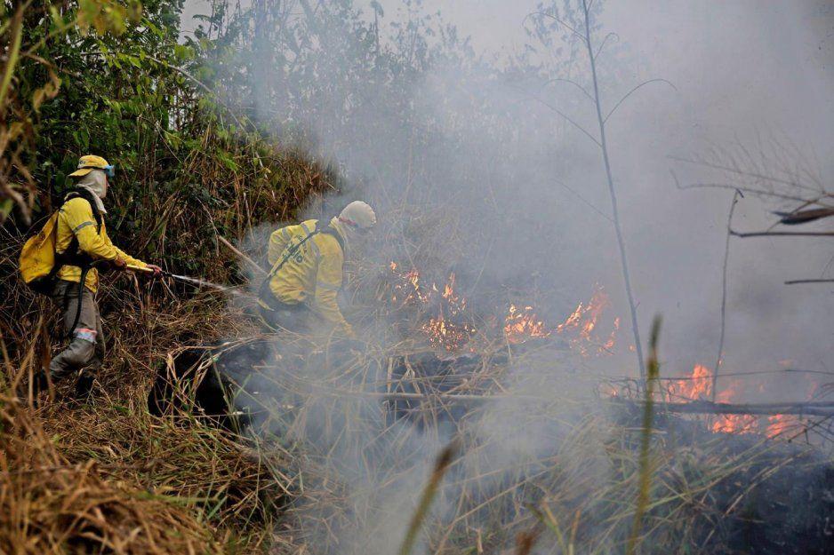 Brasil rechaza apoyo para apagar incendio en el Amazonas