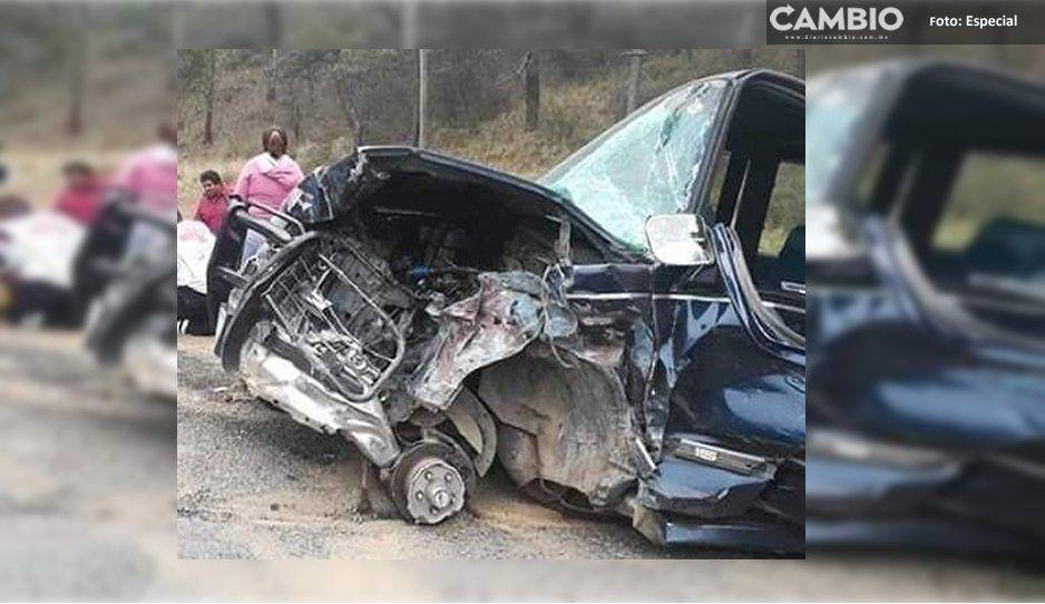 ¡Una tragedia más! Tres muertos y cuatro heridos por choque en la Autopista a Teziutlán