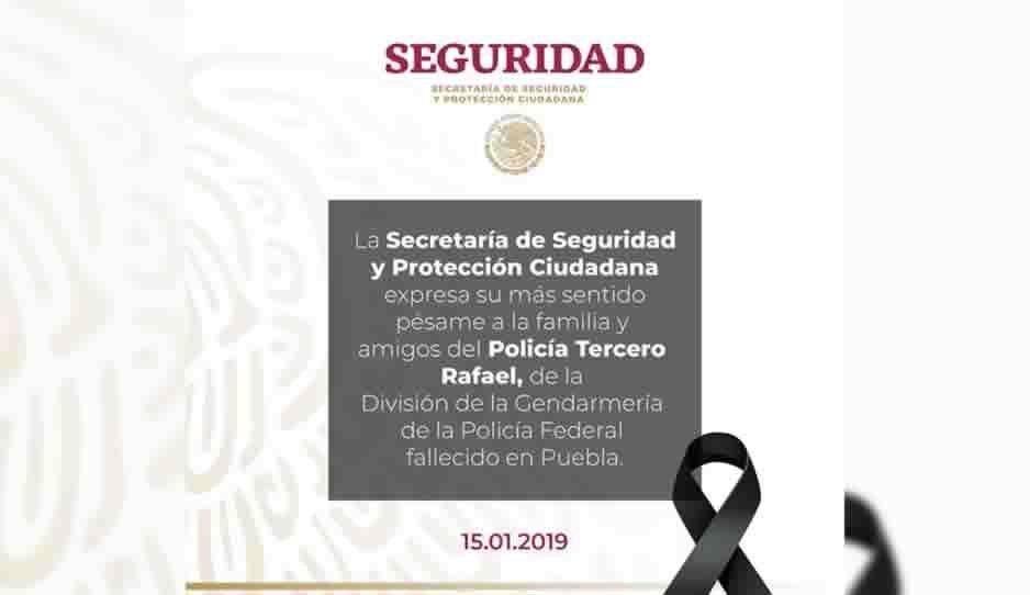 Rafael Alvarado, el Gendarme ejecutado por huachicoleros en Huixcolotla