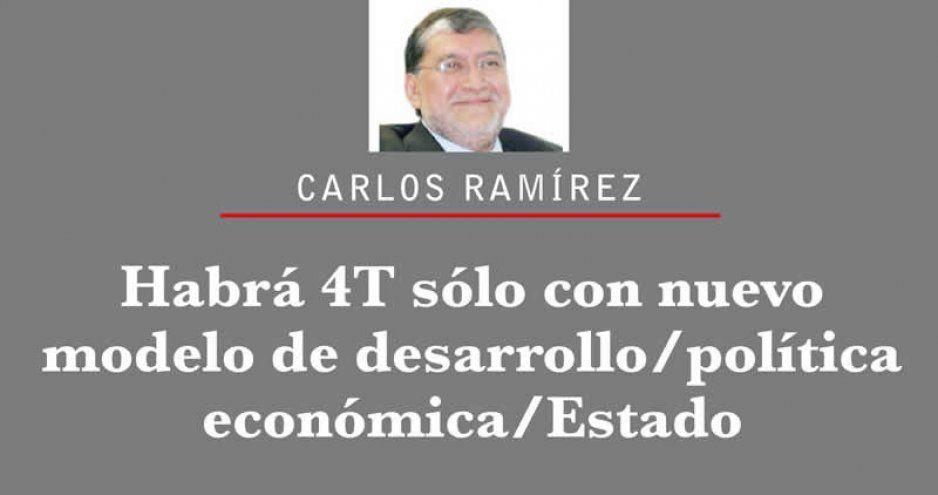 Habrá 4T sólo con nuevo modelo de desarrollo/política económica/Estado