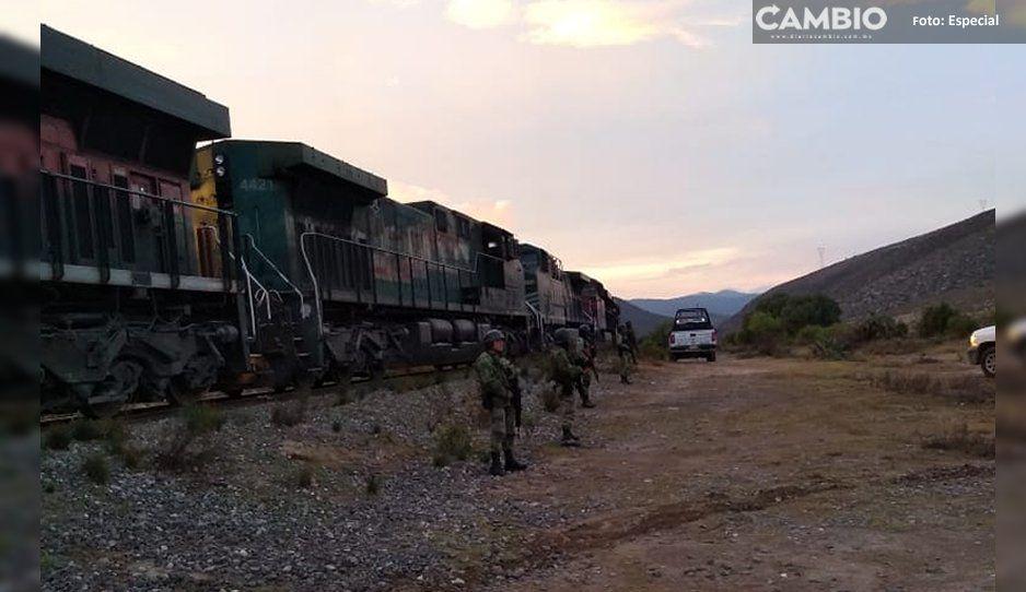 Guardia Nacional y policías estatales frustran asalto al tren en Cañada Morelos
