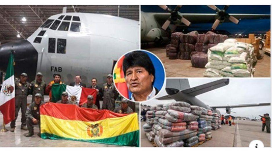 Rechazan asilo político de Evo, pero olvidan que él envió toneladas de ayuda a México para los damnificados del terremoto en 2017