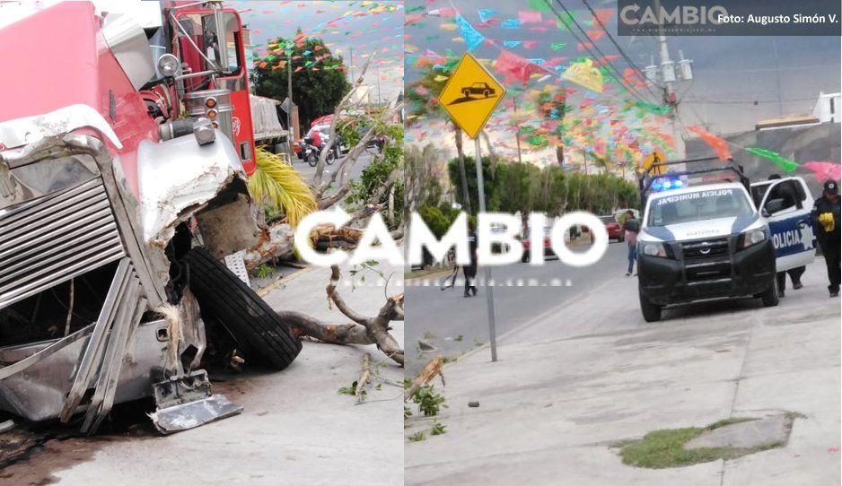 Balacera entre asalta tráileres y policías de Huixcolotla deja a tres elementos heridos