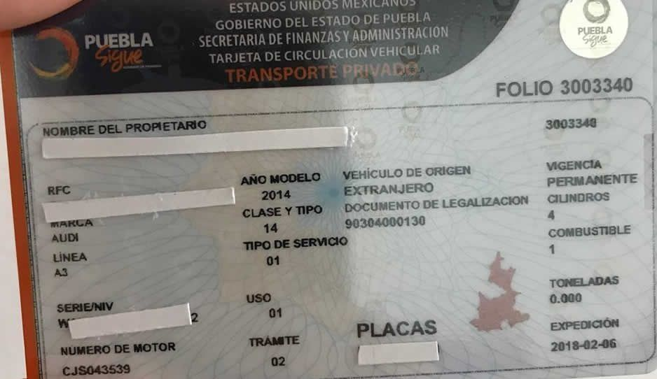 ¡8 mil pesotes de multa si no cambias tu tarjeta de circulación!