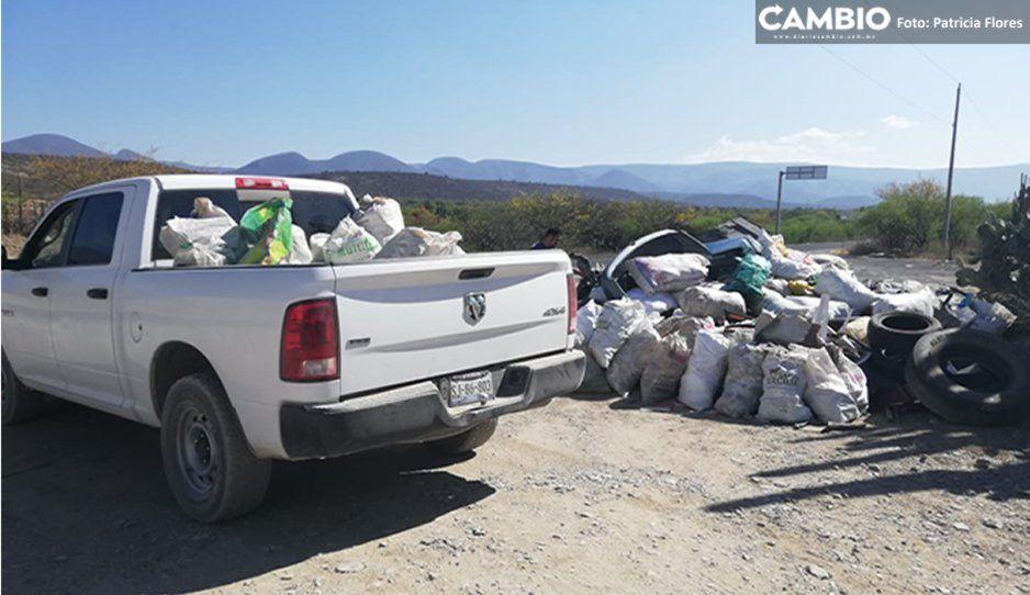 En jornada de limpieza recolectan más de 200 metros cúbicos de PET en Tehuacán