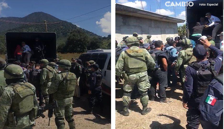 Desmantelan casa de seguridad en Acajete; resguardaban más de 200 migrantes (VIDEO)