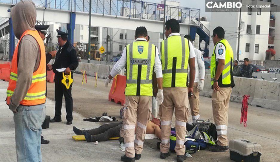 Trabajador de obras del Periférico muere atropellado por camión STU- BUAP