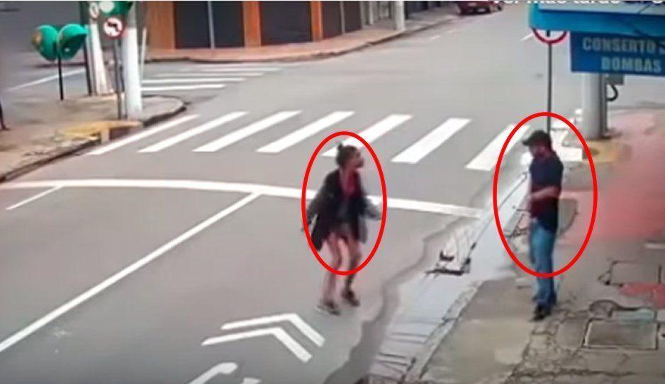 VIDEO: Brasileño dispara a mujer indigente por pedirle unas monedas