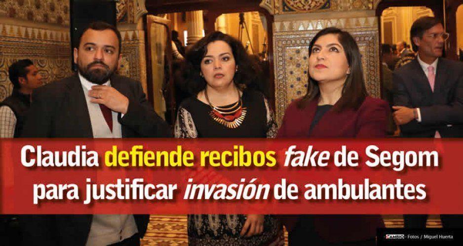 Claudia Rivera defiende recibos fake presentados por el titular de Gobernación