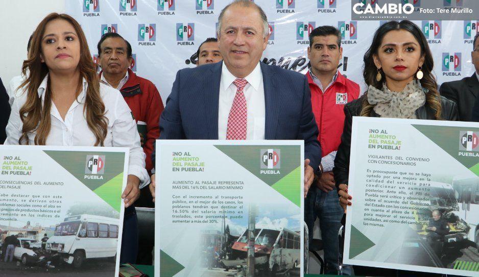 PRI estatal se cuelga de protestas contra  aumento al pasaje: con Marín fue distinto