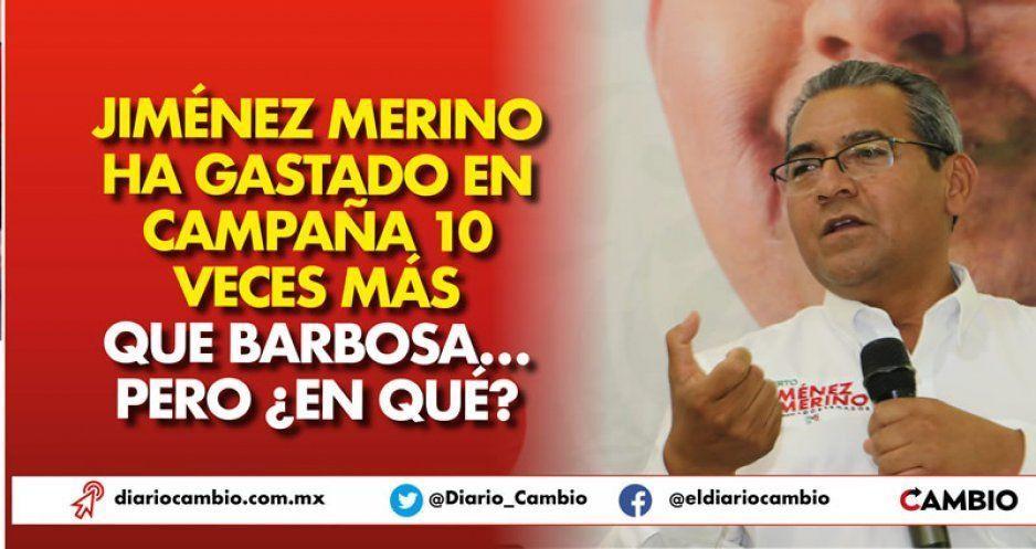 Jiménez Merino ha gastado en campaña 10 veces más que Barbosa… pero ¿en qué?