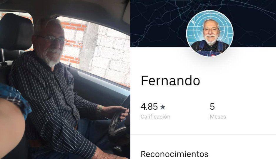 Viejito de Uber causa conmoción en los poblanos: no le cancelen los viajes a don Fer