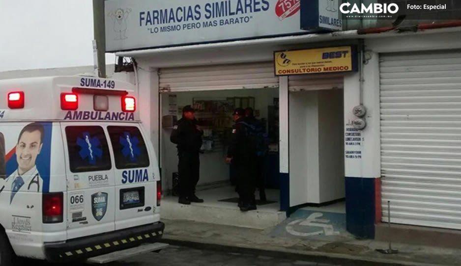 En el mismo día, sujetos armados atracan tres Farmacias Similares del centro de Texmelucan