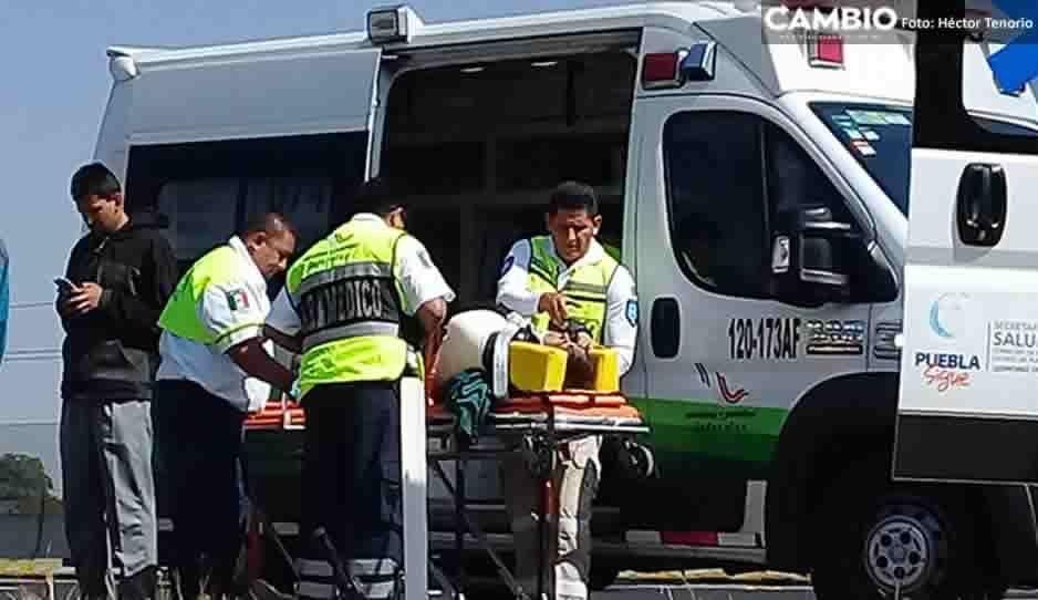 Accidente en la México-Puebla deja a cinco lesionados, entre ellos una menor de edad