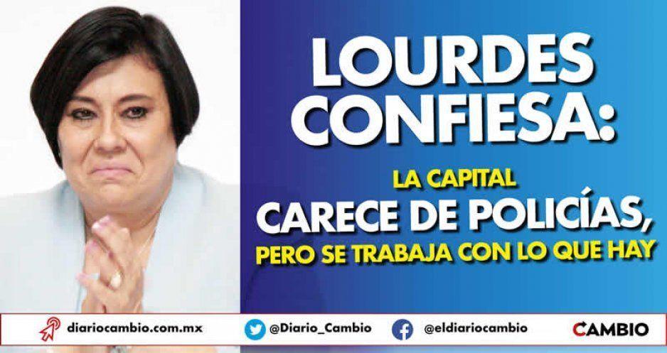 Lourdes confiesa: la capital carece de policías, pero se trabaja con lo que hay
