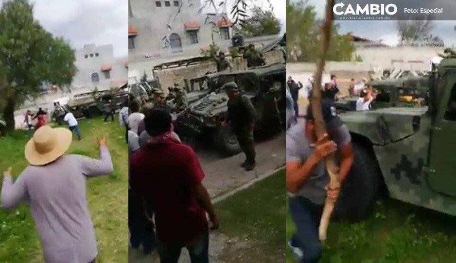 Elementos de la Sedena aplican el Plan Nacional de Paz y Seguridad en Acajete
