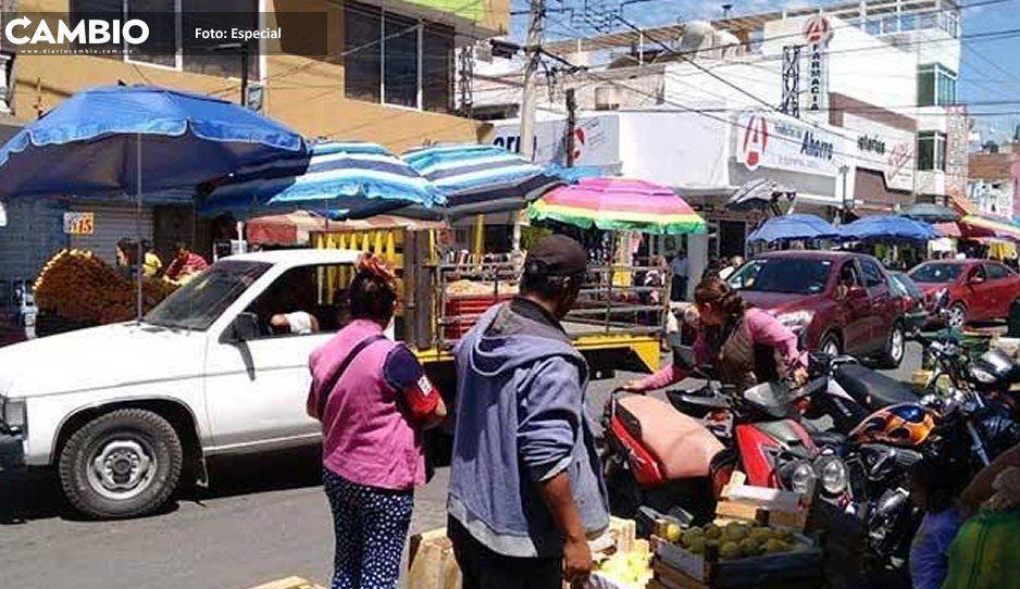 Aumentan comerciantes  ambulantes en Atlixco