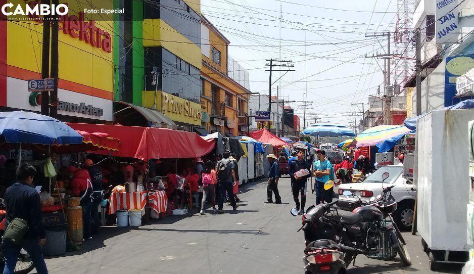 Canaco pide apoyo a autoridad para disminuir  comercio informal en San Martín Texmelucan