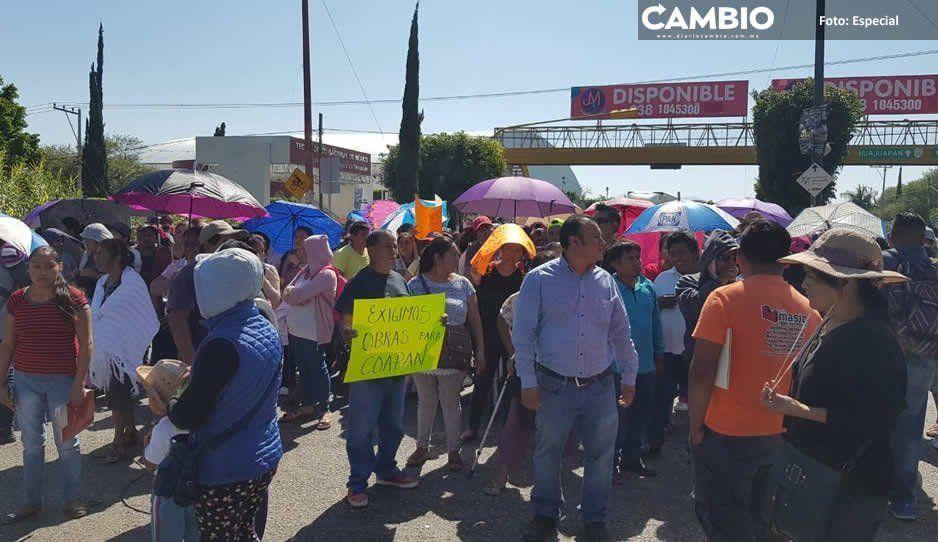 Exige junta auxiliar de Coapan obras prometidas por Patjane en Tehuacán
