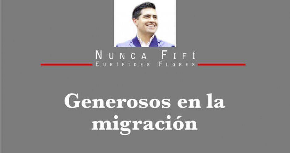 Generosos en la migración