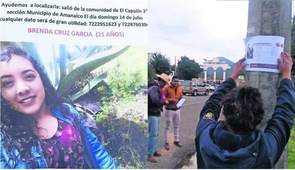 Hallan sin vida a Brenda, joven desaparecida tras abordar un taxi en Edomex