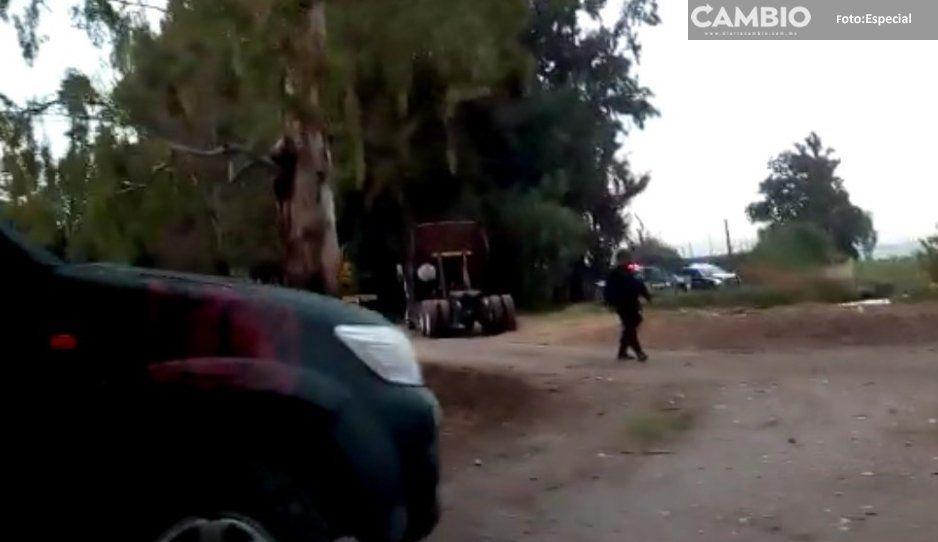 Horroriza balacera a Tecamachalco: se  enfrentan policías y ladrones de tráiler