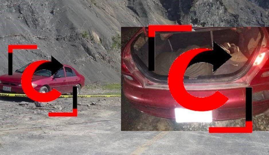 En un vehículo abandonado localizan a un encobijado en Xicotepec
