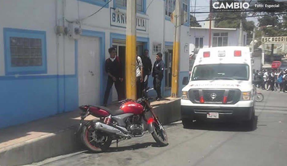 Ancianita muere de un infarto dentro de los baños públicos de Texmelucan