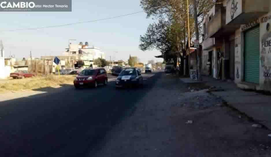 Balacera en Moyotzingo: Policías frustran robo de pipa y detiene a criminal