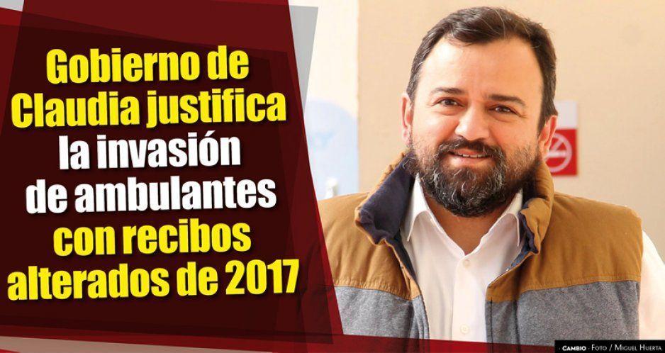 Gobierno de Claudia justifica la invasión de ambulantes con recibos alterados de 2017