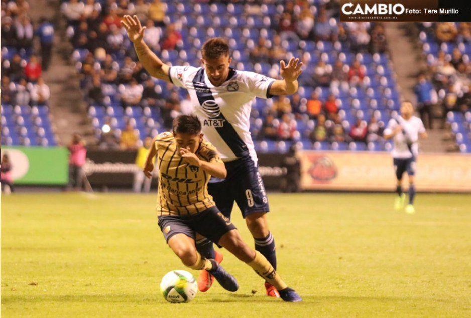 ¡Para dormir! Puebla y Pumas empatan 0-0 al medio tiempo