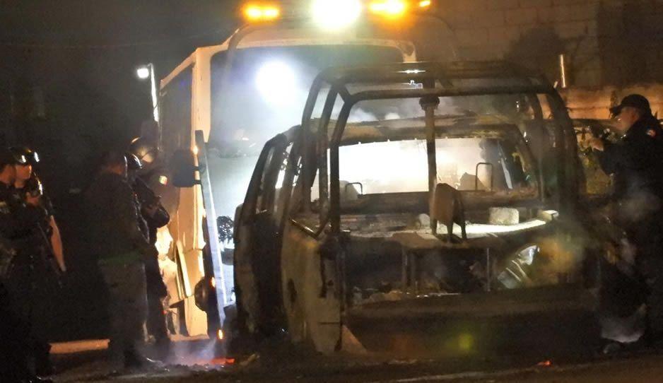 Huachigaseros se enfrentan en Amozoc por toma de gas