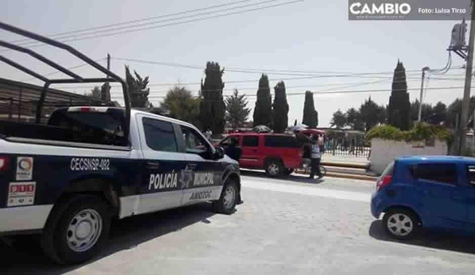 Siete personas detenidas y dos vehículos asegurados fue el saldo del operativo en Jardines de Amozoc