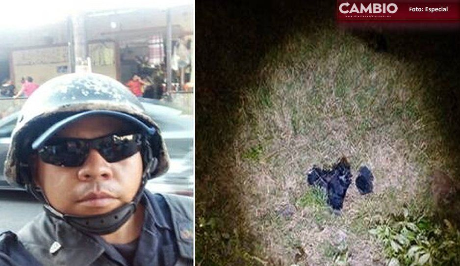 Encuentran restos de policía desaparecido hace un mes; la fauna lo devoró en Izúcar