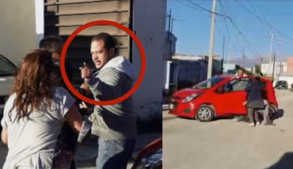 Gandalla golpea a sus vecinas por un lugar de estacionamiento en fraccionamiento de Cholula (VIDEO)