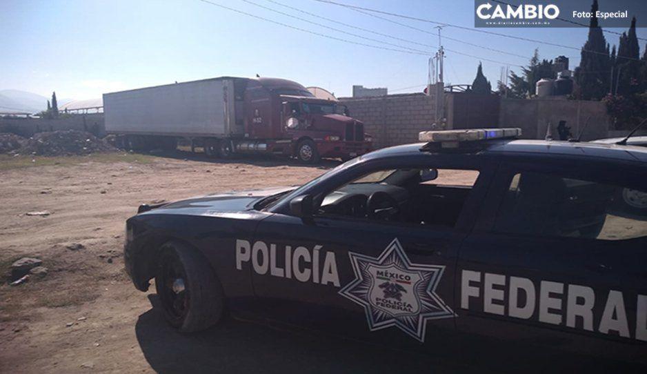 Tras persecución aseguran bodega con vehículos robados en Tecamachalco