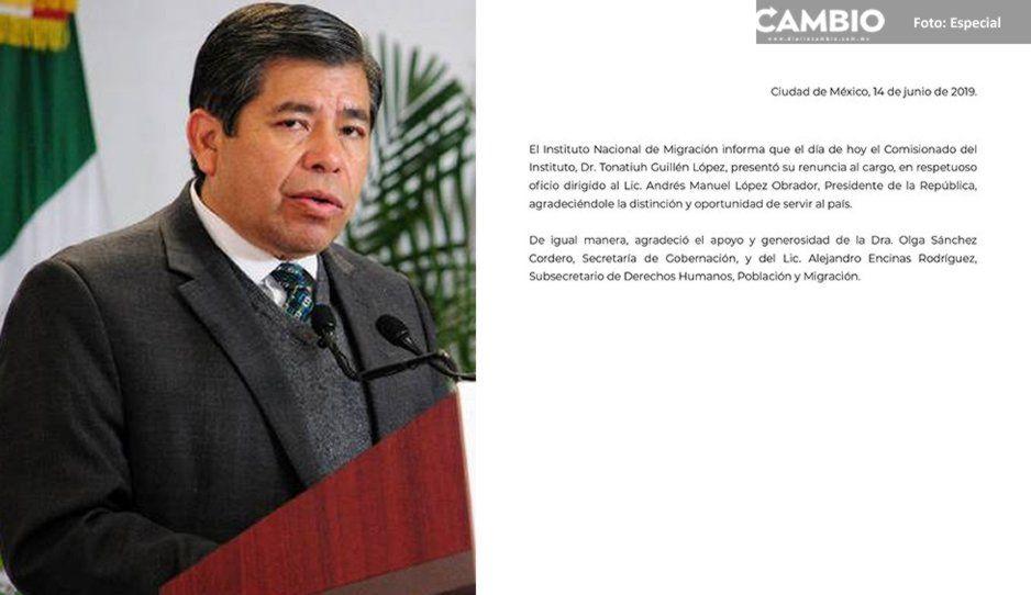 Otro caído en la 4T: Titular del Instituto Nacional de Migración renuncia al cargo