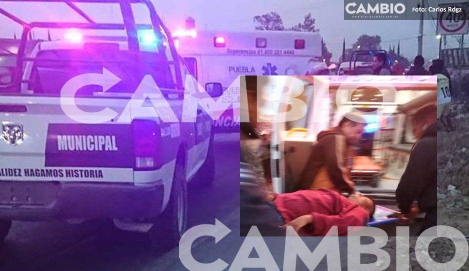 Dos heridos de gravedad tras violento asalto en pleno centro en Cuapiaxtla de Madero