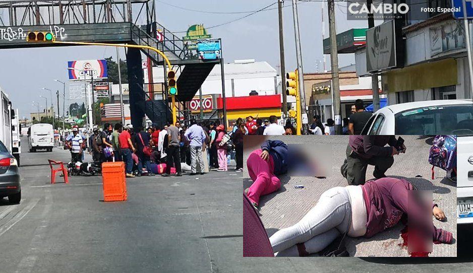 Embisten a dos mujeres y se dan a la fuga en Amozoc
