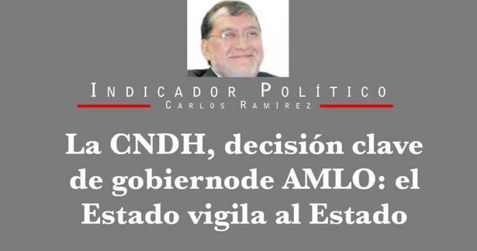 La CNDH, decisión clave de gobierno de AMLO: el Estado vigila al Estado