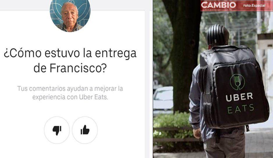 Francisco, el abuelito que hace entregas de UberEats caminando