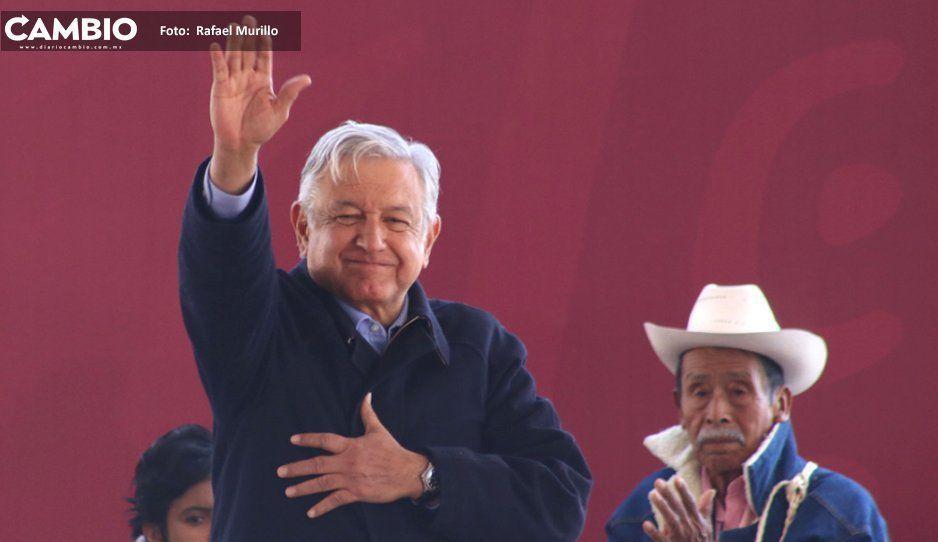 AMLO viene a Puebla antes del arranque de la campaña electoral