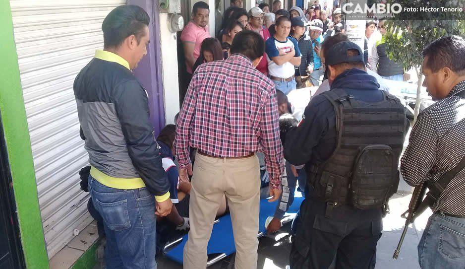Otro baleado en Texmelucan: delincuentes atacan a hombre cuando salía del banco